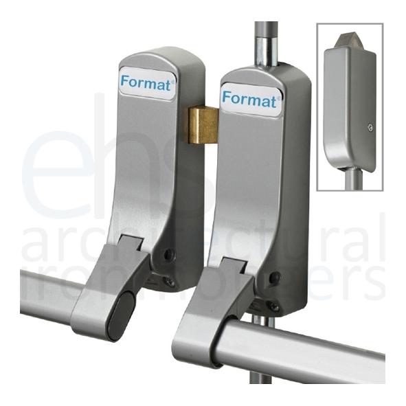 Format 174 Push Bar Rebated Door Panic Latch Bolt Set With